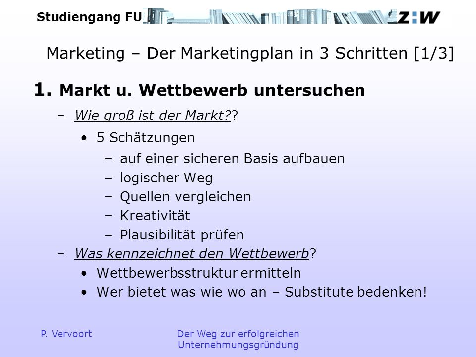 Marketing – Der Marketingplan in 3 Schritten [1/3]